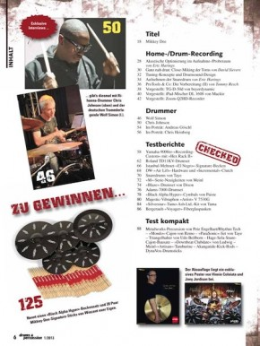 drums&percussion Januar/Februar 2013 E-Paper