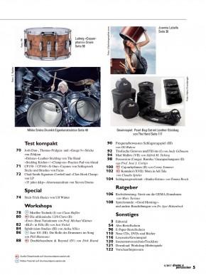 drums&percussion Juli/August 2017 gedruckte Ausgabe