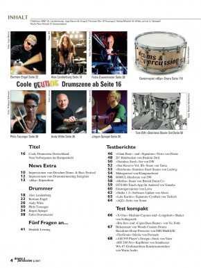 drums&percussion November/Dezember 2017 gedruckte Ausgabe