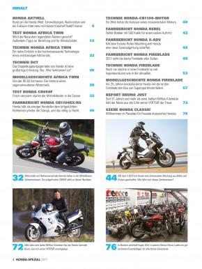 HONDA SPEZIAL 2017 gedruckte Ausgabe