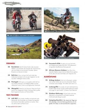 MotorradABENTEUER Juli/August 2017 gedruckte Ausgabe