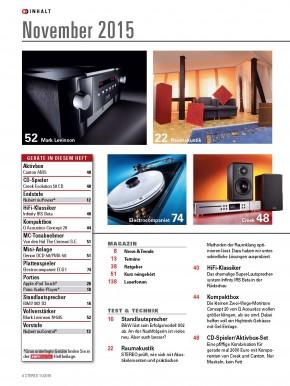STEREO November 2015 gedruckte Ausgabe