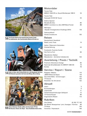 TOURENFAHRER September 2018 gedruckte Ausgabe